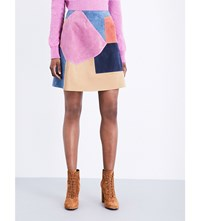 Mih Jeans Kalle Suede Leather Skirt Multi