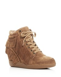 Ash Beatnik Fringe Hidden Wedge Sneakers Russet