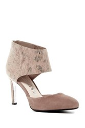 Revolution Caught Ankle Cuff D'orsay Pump Beige
