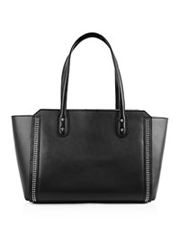 Ivanka Trump Soho Solutions Leather Tote Black Silver