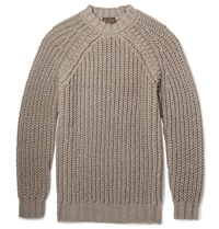Tod's Alpaca Silk And Merino Wool Blend Sweater Brown