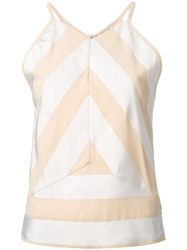 Kenzo Striped Front Tank Top Nude And Neutrals