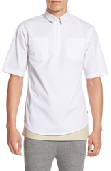 I Love Ugly Short Sleeve Quarter Zip Work Shirt White