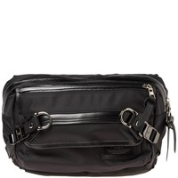 Master Piece Potential Leather Trim Waist Pack Black