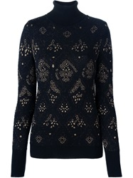 Viktor And Rolf Intarsia Knit Sweater Black
