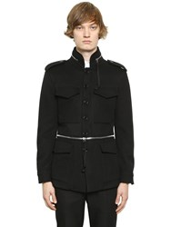 Alexander Mcqueen Wool And Cashmere Field Jacket W Zips