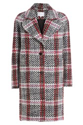 Carven Printed Virgin Wool Coat Multicolor