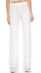 Nightcap Clothing Dixie Lace High Waisted Trousers Dove