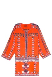 Isabel Marant Sofia Tunic Top Red