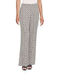 Splendid Printed Wide Leg Pants Black