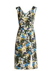 Erdem Jyoti Meadow Jacquard Dress Blue Print
