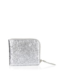 Maison Martin Margiela Foil Effect Leather Wallet Silver