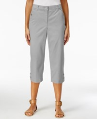 Karen Scott Twill Cropped Capri Pants Only At Macy's New City Silver
