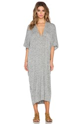 Riller And Fount Luca Caftan Maxi Dress Gray