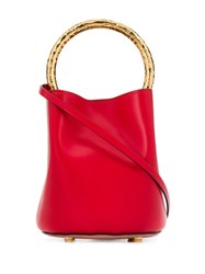 Marni Two Tone Bucket Bag Red