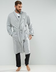 Boss By Hugo Dressing Gown Grey Black