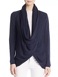 Alice Olivia Draped Wool And Cashmere Wrap Sweater Navy