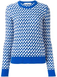 Golden Goose Deluxe Brand Wavy Knit Jumper Blue