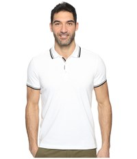 Kenneth Cole Polo With Tipping White Men's Short Sleeve Pullover