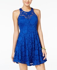 Material Girl Lace Racerback Fit And Flare Dress Only At Macy's Surf The Web
