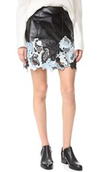 3.1 Phillip Lim Vinyl Lace Skirt Black