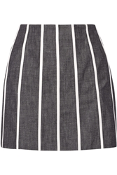 Victoria Beckham Striped Denim Mini Skirt