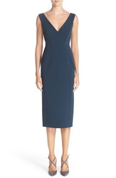 Nordstrom Caroline Issa Women's Signature And Double V Neck Ponte Knit Dress