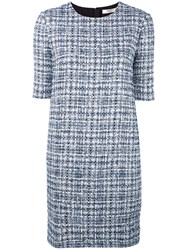 Lanvin Boucle Knit Dress Blue
