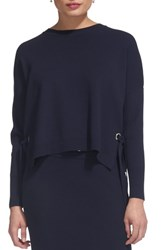 Whistles Tie Side Sweater Navy