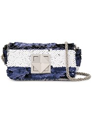 Sonia Rykiel Small Sequinned Crossbody Bag Blue