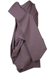 Rick Owens High Neck Layered Top Pink Purple