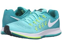 Nike Air Zoom Pegasus 33 Hyper Turquoise White Clear Jade Volt Women's Running Shoes Blue