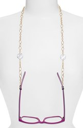 Women's L. Erickson 'Spellbound' Eyeglass Chain Crystal Gold