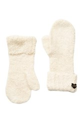 Betsey Johnson Fuzzy Logic Mitten White