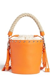 J.W.Anderson Studded Bucket Bag Orange Tangerine