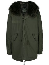 Mr And Mrs Italy Short Hooded Parka Coat Green