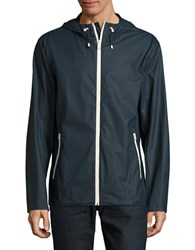 Cole Haan Rubber Rain Jacket Navy