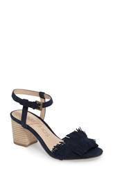 Sole Society Women's Sepia Fringe Sandal Ink Navy Suede