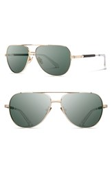 Men's Shwood 'Redmond' 56Mm Titanium And Wood Sunglasses