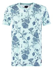 Solid Broderick Print Tshirt Pastel Turquoise Mint
