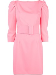 Milly Puff Shoulder Mini Dress Pink