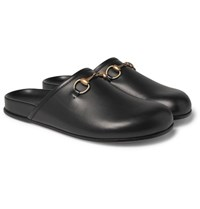 Gucci Horsebit Leather Sandals Black