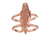 Kendra Scott Boyd Adjustable Ring Rose Gold Rose Gold Drusy Ring