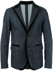 Dsquared2 Denim Blazer Blue