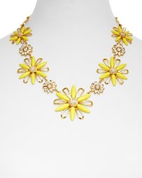 Kate Spade New York Daisy Dreams Statement Necklace 18 Yellow