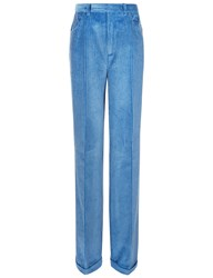 Arthur Arbesser Blue Corduroy Wide Trousers