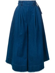 Twin Set High Waist Wide Leg Jeans Blue