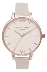 Olivia Burton Women's Begin To Blush Leather Strap Watch 38Mm