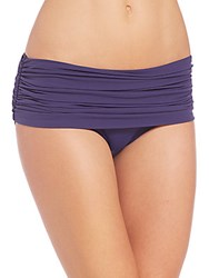 Norma Kamali Bill Ruched Low Rise Bikini Bottom Midnight