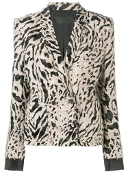Haider Ackermann Leopard Pattern Blazer Nude And Neutrals